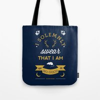 marauders Tote Bags featuring Marauder's Map by Dorothy Leigh