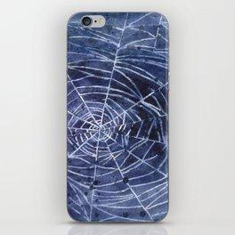 Spiderweb in watercolor iPhone Skin