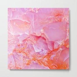 Pink onyx marble Metal Print