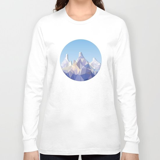 Night Mountains No. 37 Long Sleeve T-shirt
