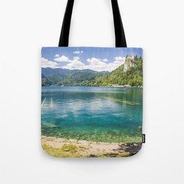 Bled lake Tote Bag