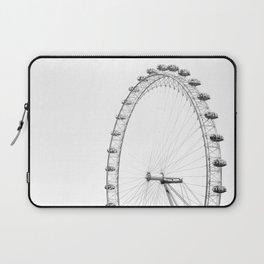 Ferris Wheel (Black and White) Laptop Sleeve