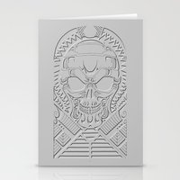 terminator Stationery Cards featuring terminator polynesian by Andrew Mark Hunter