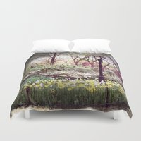 central park Duvet Covers featuring Central Park by Selena