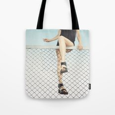 Hoping Fences Tote Bag
