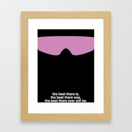 "Legends Of Wrestling - Bret ""The Hitman"" Hart Framed Art Print"