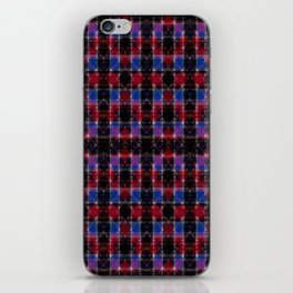 Cart Handle Semi-Plaid In Red, Pink, Blue, and Black iPhone Skin
