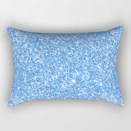 Blue glitter texture print Rectangular Pillow