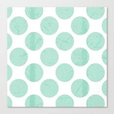 Mint Polka Dot Canvas Print