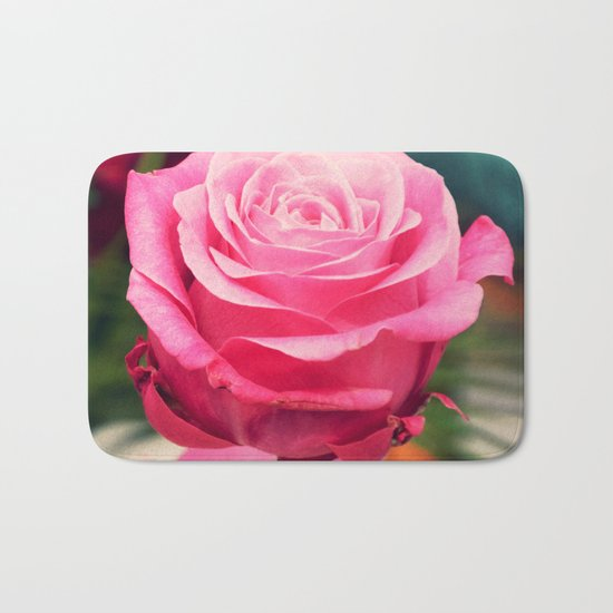 Elegant pink rose Bath Mat