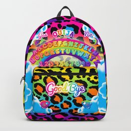 1997 Neon Rainbow Ouija Board Backpack