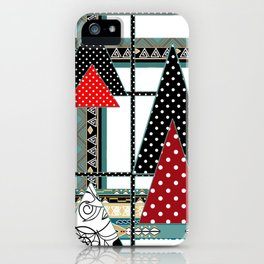 Art. Morning Fantasies . Patchwork iPhone Case
