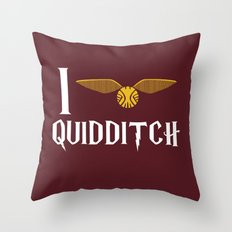 I love Quidditch Throw Pillow