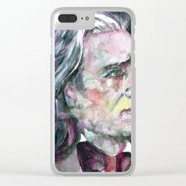 FRANZ LISZT - watercolor portrait.2 Clear iPhone Case
