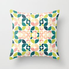 Rose Garden Pattern Throw Pillow