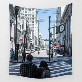 San Francisco street lines Wall Tapestry