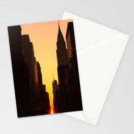 Manhattanhenge along 42nd Street NYC Stationery Cards