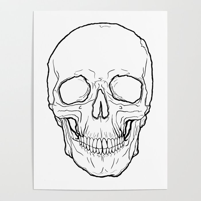 """Animal Skull Outline"" by dewking 