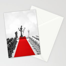 Wedding Chess / 3D render of checkmating ceremony Stationery Cards