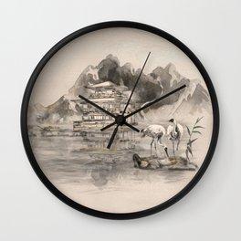 Japanese Serenity Landscape Wall Clock
