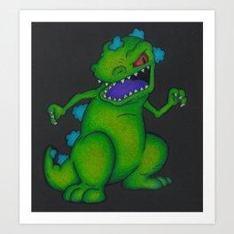 Reptar Rugrats T-Rex Nickelodeon 90s Nicktoons Art Print