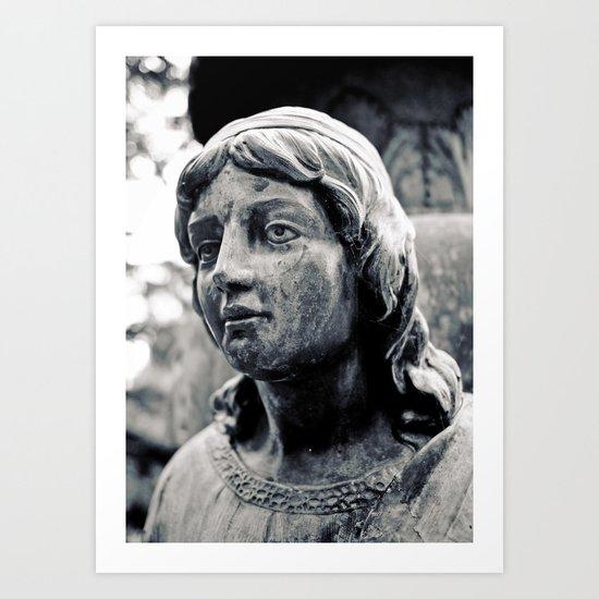 Lady of stone Art Print