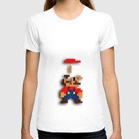tetris T-shirts featuring Mario Tetris by Darthdaloon