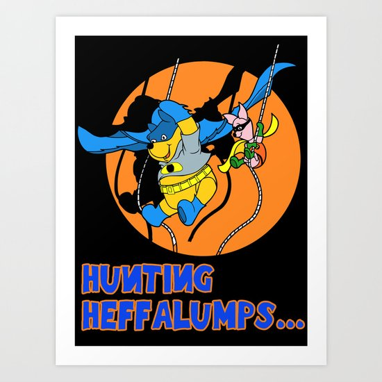 Bat Pooh! Art Print