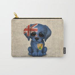 Cute Puppy Dog with flag of Turks and Caicos Carry-All Pouch