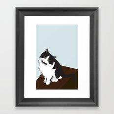 Mina the Cat Framed Art Print