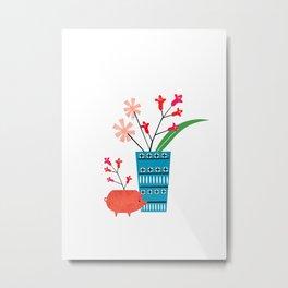 Blue vase Metal Print