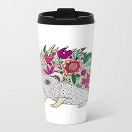 Woodland Hedgehog Illustration Metal Travel Mug