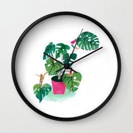 Cheeseplant love Wall Clock
