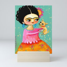 Sweet Chihuahua dog Mini Art Print