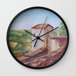 Puycelci Tower in Provence WC150615-12 Wall Clock