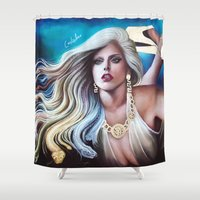 versace Shower Curtains featuring VERSACE GODDESS by CARLOSGZZ