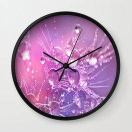 Lavender Dandelion Dew Wall Clock