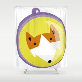 Compass fox Shower Curtain