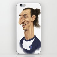 zlatan iPhone & iPod Skins featuring Ibrahimovic - PSG by Sant Toscanni