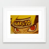 naruto Framed Art Prints featuring Naruto Angry by DeMoose_Art
