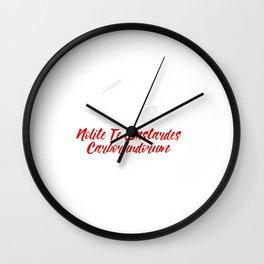Nolite te bastardes carborundorum #2 Wall Clock