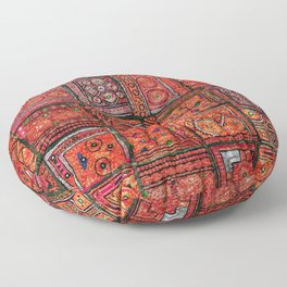 V5 Red Traditional Moroccan Design - A3 Floor Pillow