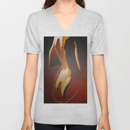 Young Beautiful Nude Woman With Towel Unisex V-Neck