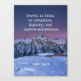 Mark Twain quote 7 Canvas Print