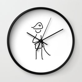 Napoleon the military officer Wall Clock