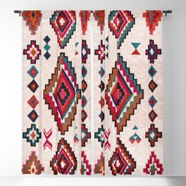 Colored Traditional Oriental Moroccan Antique Artwork (N22) Blackout Curtain