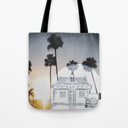 Pencil Sunset Tote Bag