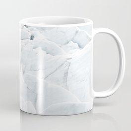 White winter glacier icelandic landscape photography Coffee Mug
