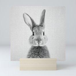 Rabbit - Black & White Mini Art Print