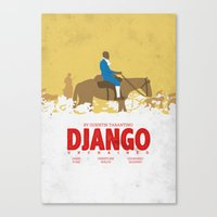 django Canvas Prints featuring Django by Zhi-Yun